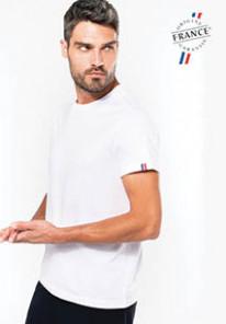 """www.printbijmij.nl - Biologisch heren t-shirt """"Origine France Garantie"""""""